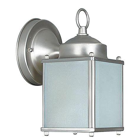 luminance 1 light satin nickel outdoor lantern f6841 53