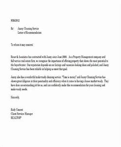 79 examples of recommendation letters With letter for cleaning services