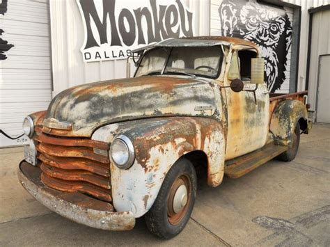 1952 Chevy 5 Window Pick Up Farm Find offered by Gas
