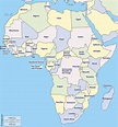 Countries of Africa (list and map)   Learner trip