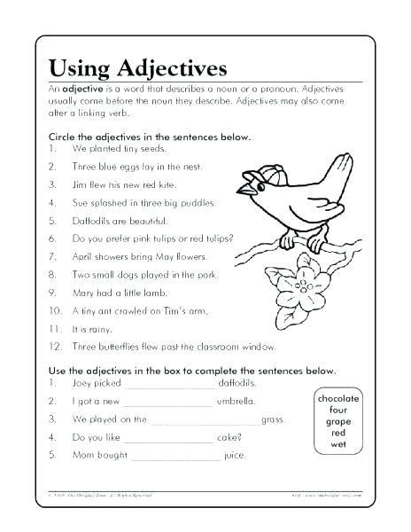 pandiwa worksheets for grade 3 pdf free adjective worksheets grade for adjectives second