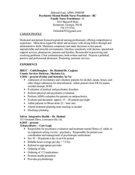 Psychiatric Rn Resume by Resume Psych 201512
