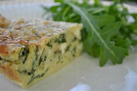 recette quiche sans pate aux epinards  au fromage feta ww