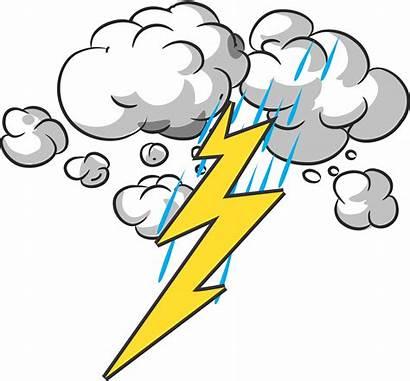 Thunder Lightning Clipart Storm Cartoon Clip Transparent