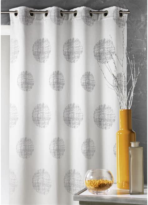 vente rideaux en ligne rideau en jacquard 224 imprim 233 s quot rond quot gris maldives blanc piment homemaison vente