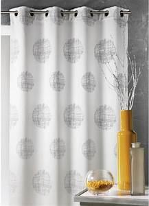 Rideau Gris Et Blanc : rideau en jacquard imprim s rond gris maldives ~ Dailycaller-alerts.com Idées de Décoration