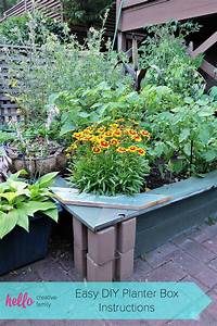Easy Diy Planter Box Instructions   Garden Therapy Kids