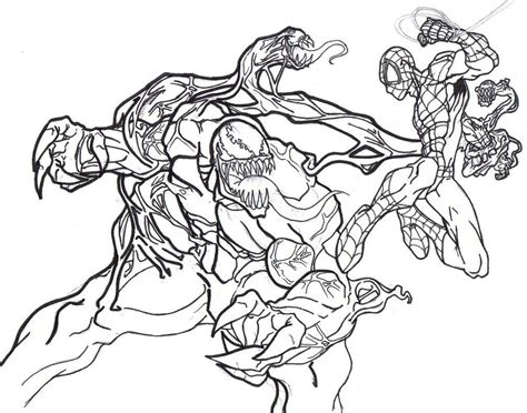 printable venom coloring pages  kids comic book