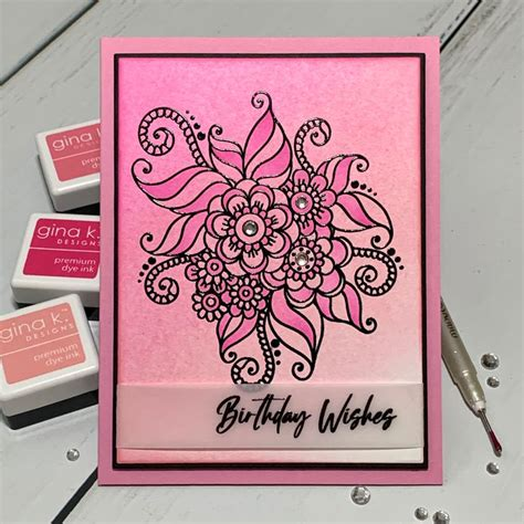 flower child ombre flower child pretty cards ombre