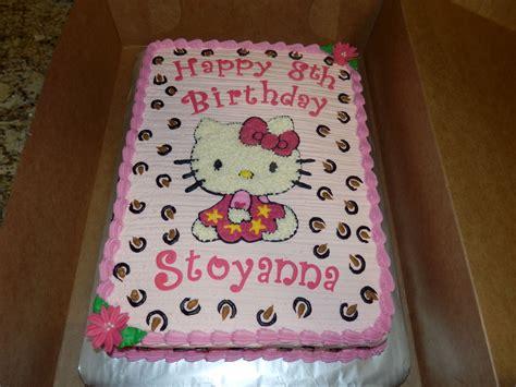 kitty sheet cake  kitty  sheet birthday