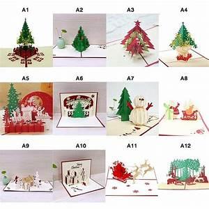 Pop Up Weihnachtskarten : pop up 3d weihnachtskarten klappkarten christmas f r je 1 inkl versand ~ Frokenaadalensverden.com Haus und Dekorationen