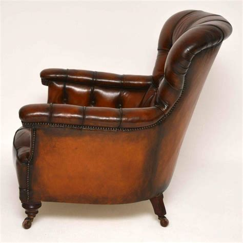 Leather Armchairs Sale by Stunning Antique Leather Armchair For Sale At