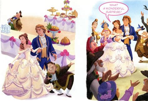 belle  prince adams beast wedding cartoons