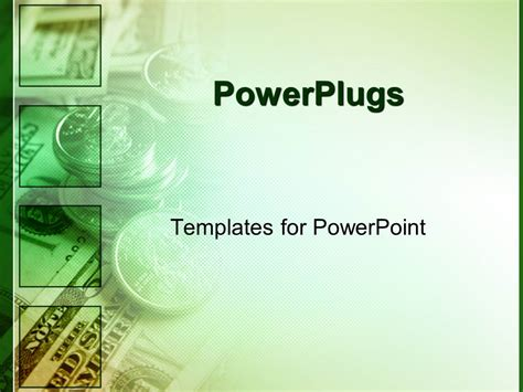 powerpoint template green money for finances as a