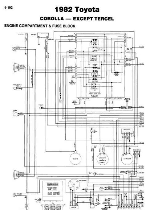 repair manuals toyota corolla 1982 wiring diagrams
