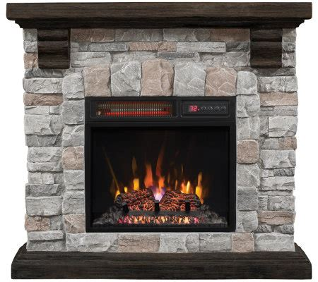 duraflame electric fireplace logs duraflame infrared quartz mantel heater with