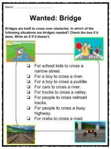 bridge facts worksheets historic information  kids
