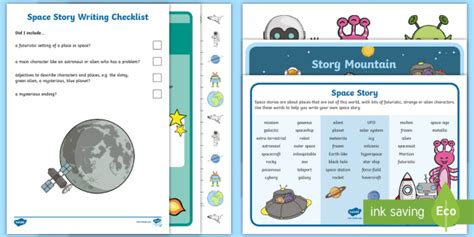 * New * Ks1 Space Story Writing Resource Pack  Space, Science Fiction