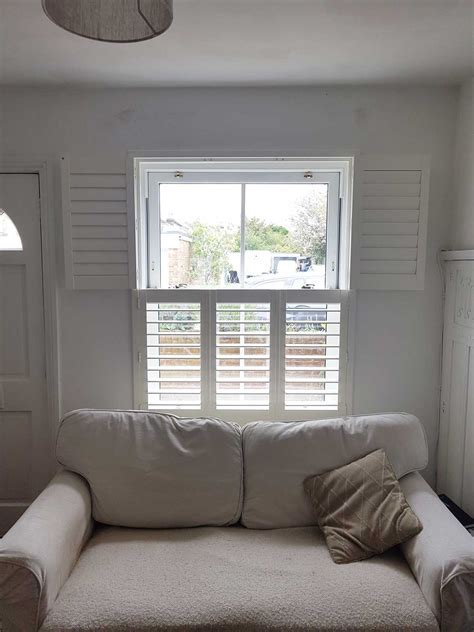 Living Room Window Podcast by Tier On Tier Plantation Shutters Fitted To Sash Window In