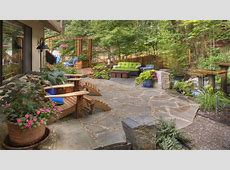 Landscaping patio ideas, residential landscaping rustic