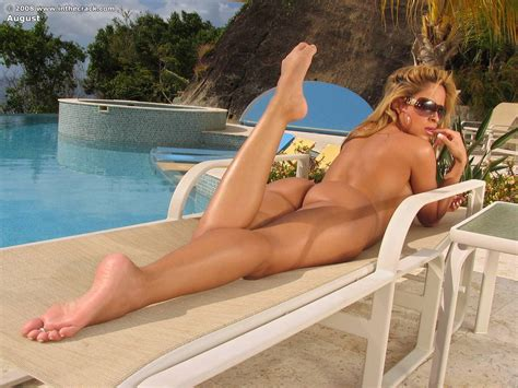 Pussy Pics Id August By The Pool Clit Of August