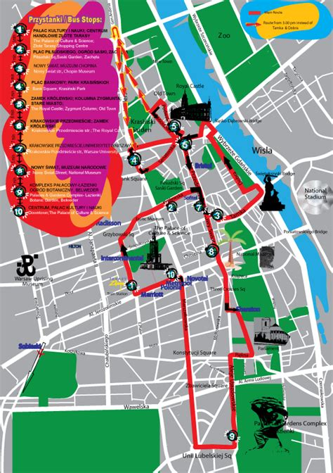 Carte Touristique Du Centre De La by Plan Et Carte Touristique De Varsovie Monuments Et Circuits