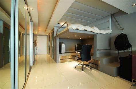 bureau chambre adulte lit mezzanine adulte pour l 39 aménagement du petit appartement