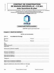 Contrat de construction de maison individuelle for Modele de contrat de construction de maison individuelle
