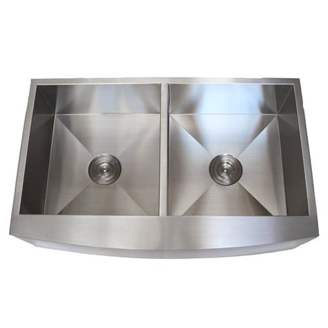 36 inch stainless steel curved front farmhouse apron
