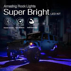 Best Led Rock Lights Kit For Jeep 8pcs Pod Lights