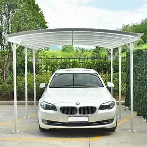 Carport En Aluminium : carport blanc en alu blanc 3x5 76m et plaques pc 6mm x metal ~ Maxctalentgroup.com Avis de Voitures