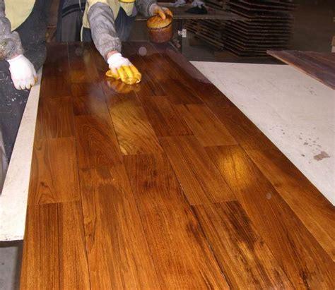 Oiled teak parquet flooring   Gallery