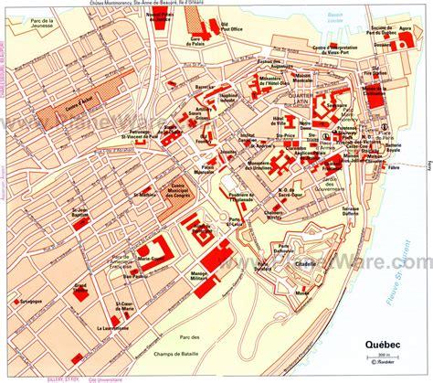 map  quebec city attractions quebec city