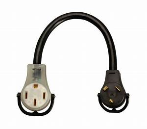 Coleman Cable 09552 2 Pack 18in  30 Amp To 50 Amp Rv