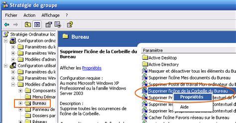 supprimer icone bureau renommer ou supprimer la corbeille xp