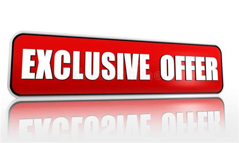 Exclusive offer red banner stock illustration ...