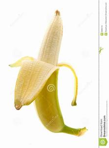 Fresh Half Peeled Banana Stock Images - Image: 3996114