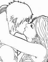 Coloring Anime Kissing Colouring Couples Kiss Funny Couple Hugging Cuddling Template Last Drawing Pencil Sketch Itl Templates Popular Teenagers sketch template