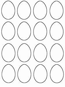Blank Easter Egg Template Printable | Kiddo Shelter