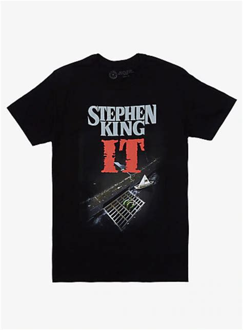 IT Stephen King Book Cover T-Shirt in 2020 | Horror shirts ...