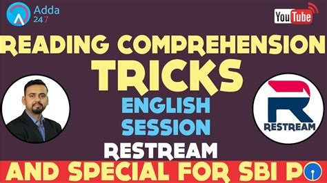 Reading Comprehension Tricks For Sbi Po  Must Watch # Restream Youtube