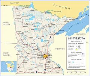 Minnesota Map Minnesota State Map Minnesota Road Map  Map