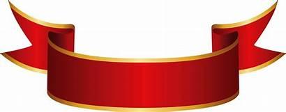 Banner Clip Clipart Transparent Gold Pinclipart 1172