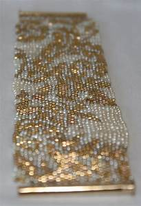 seed bead pattern only for peyote stitch gold and pearl etsy