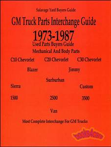 Parts Manual Chevrolet Gmc Truck Interchange Pickup Chevy