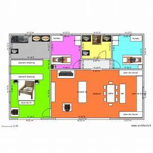 La Maison De Mes Reves : la maison de mes r ves plan 7 pi ces 107 m2 dessin par bebeguy ~ Nature-et-papiers.com Idées de Décoration
