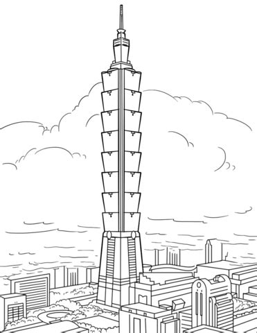 taipei  coloring page  printable coloring pages