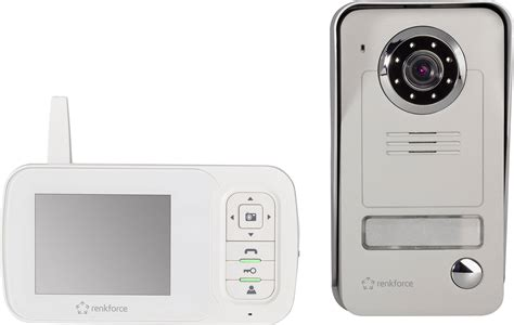 renkforce  video door intercom radio complete kit detached white grey conradcom