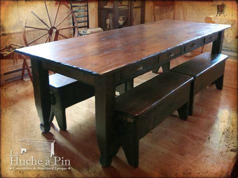table refectoire avec tiroirs 01