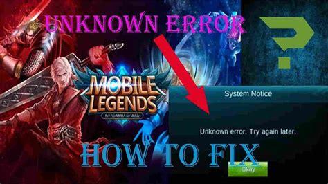 6 Cara Mengatasi Mobile Legends Error Di Android